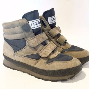 LL BEAN VINTAGE LINED SNEAKERS BOOTS HIKING